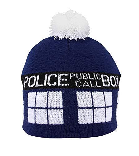 Dr. Who TARDIS Knit Pom Beanie