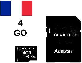 Tarjeta de Memoria Compatible con Cloudfone Go SP, CEKA TECH® Micro-SD 4GB Clase 10 con Adaptador SD