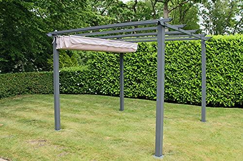 Pergola 3m x 3m Garden Shade Gazebo Weather Proof, Aluminium, Garden Patio Structure