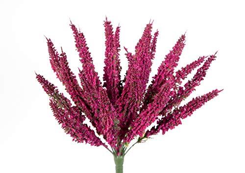 Erika/Heidekraut künstlich Fuchsia Kunstpflanzen Kunstblumen Erikabusch künstliche Blumen Pflanzen