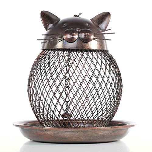 La mangeoire pour oiseaux chat