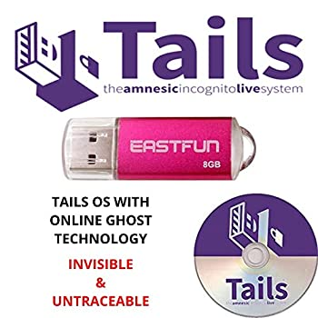 Stop Big Brother With The New Latest Edition Of Tails Latest Version Anonymous Fast Live Operating System 8GB USB Drive Plus 1 Free DVD Linux Boot + Persistence