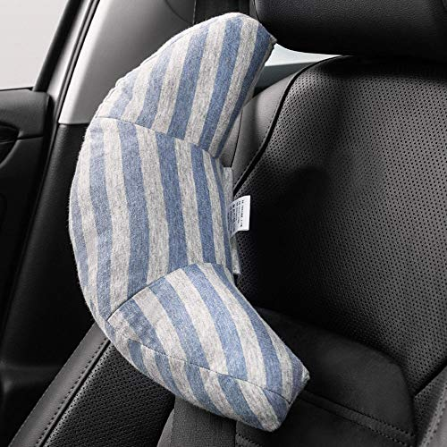 Seat Belt Pillow for Kids, Super Soft Headrest Neck Support Travel Pillow in Car, Universal Carseat Strap Cushion Pads for Child Baby Adults, Compatible with All Cars (Blue)