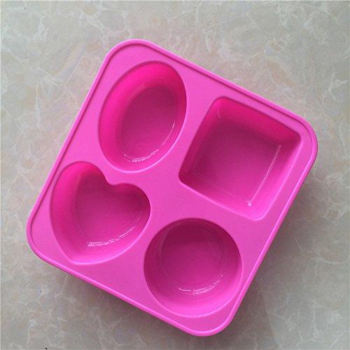 LC geometría jabón molde E040silicona magdalenas tazas hecho a mano de jabón Moldes para galletas Chocolate Hielo Pastel Molde para hornear Cake Pan