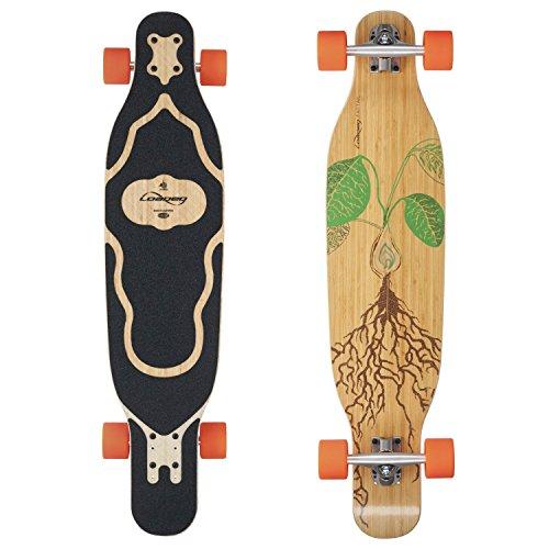 Loaded Boards Fattail Bamboo Longboard Skateboard Complete (80a Stimulus, Flex 1)