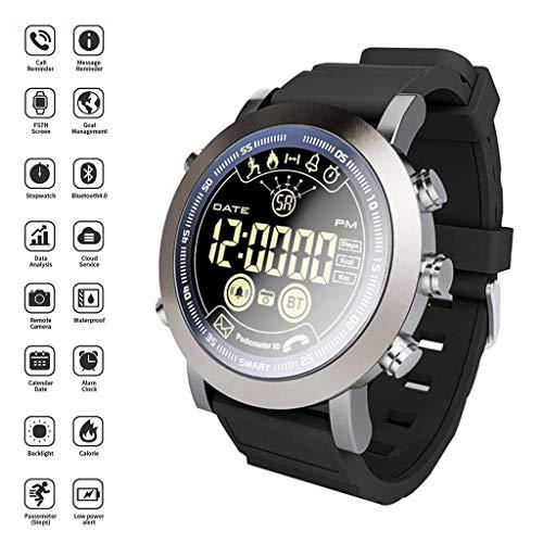Ejolg IP68 Waterdichte Fitness Trackers Smart Watch, met Stopwatch, Alarm Klok, Stap Counter Stappenteller, Call Reminder,Etc, Ondersteuning Meerdere Nationale Talen Mens Womens Unisex