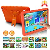 Tablette Enfants 9.0 Pouces Android 9.0 Pie Certifié Google GMS 3Go RAM 32Go/128Go ROM Tablette Tactile 1.5Ghz Quad Core OTG WiFi 6000mAh Tablet PC Google Play Netflix Youtube Jeux Éducatifs(Orange)