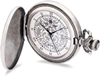 Charles-Hubert Paris 3926 Antique Silver Plated Antique Silver Dial with Date Pocket Watch