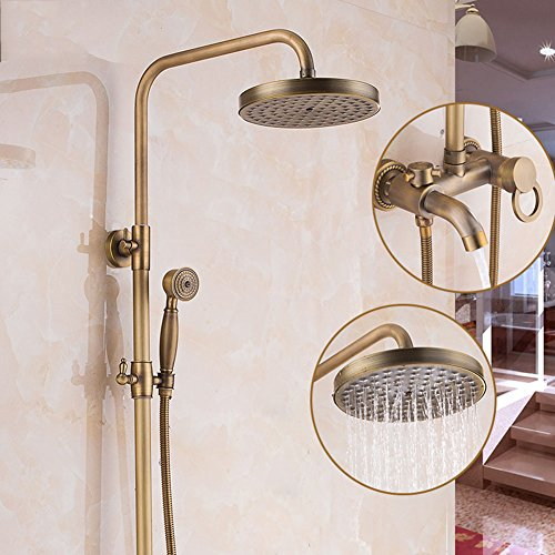 Lowest Prices! Shower mixer Shower Faucet Bathroom Mixer Shower Set Thermostatic Valve With Shower Head And Hand Held Shower