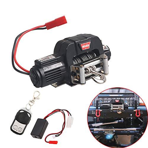 ACHICOO Automatische Seilwinde Drahtlose Fernbedienung Empfänger für 1/10 RC Crawler Auto SCX10 TRX4 D90 TF2 CC01 Elektrische Winde schwarz + Fernbedienung