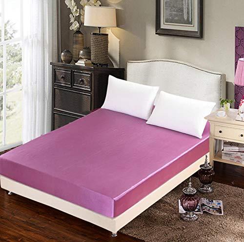 KIrSv Komfort Spannbetttuch,Baby Samt Stickerei Gesteppte Spannbetttücher, Hotel Apartment Schlafzimmer Matratzenschoner (einfach und doppelt groß) -M_180x220cm + 30cm