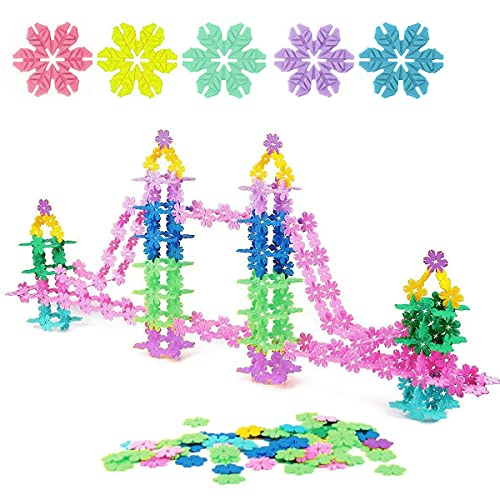 QUN XING STEM Toys Building Blocks Educational Toys 720 Pieces Construction Interlocking Plastic Flake Disc Set Great STEM Toy for Kids 3,4,5,6 Years Old,Random Color
