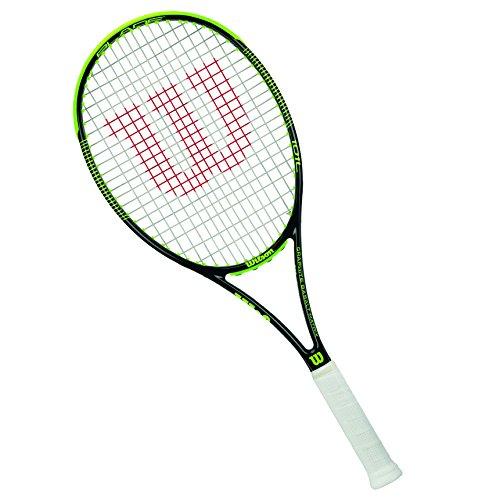 Wilson Raqueta de tenis unisex, Juego de ataque de línea de fondo, Para principiantes y expertos, Blade 101 L, Medida 2, Negro/Lima