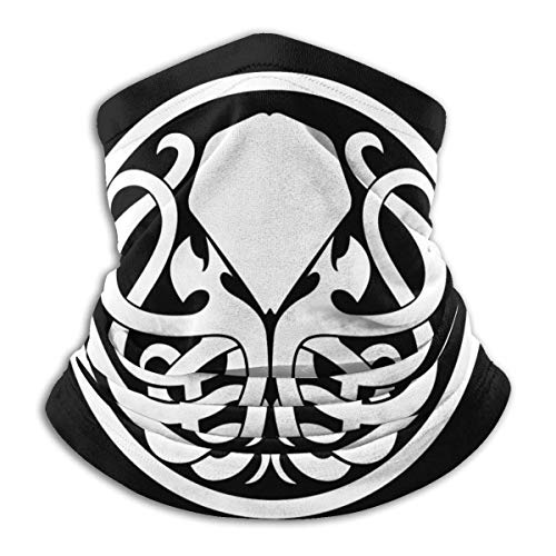 Tengyuntong XXWKer Calentador de Cuello Deporte Calentador Pasamontañas Polar Máscara Cool Cthulhu Unisex Fleece Neck Warmer Ear Warmer Headband & Face Cold Weather Gear One Size
