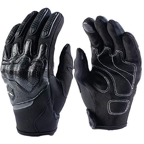 ILM ATV BMX MX MTB Cycling Riding Dirt Bike Full Finger Gloves Touchscreen Fit For Men Women(Black, L)