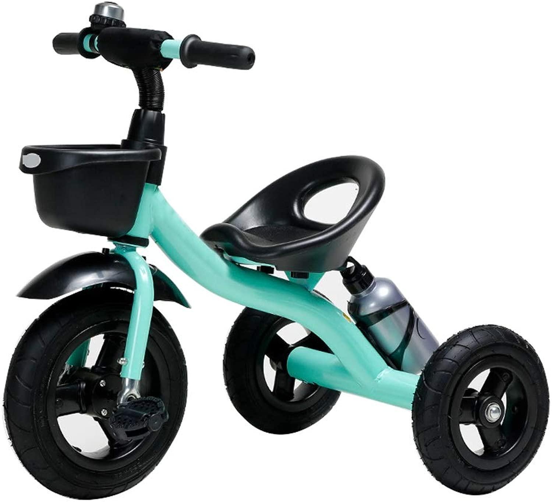 OUUCL-bambini Tricicli for Bambini, Tripper stradaster ad Altezza Regolabile, Bicicletta for Bambini con Pedale, Balance Bike con Contenitore e portabic eri, for Ragazzi da 2 a 5 Anni ( Coloree   Blu )