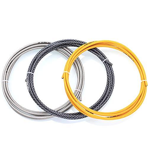 BIKERISK Fahrradbremskabel, 3 Meter Fahrradschaltkabelhüllen-Radfahren Wires Rohr Set für Rennrad MTB Bikes,Gold,Brake