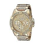 Luxury Watch Reloj de Pulsera para Hombre, diseño de Diamantes de Laboratorio, Color Dorado