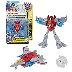 Warrior Class Starscream figure inspired by the Cyberverse animated series Each action attackers figure performs a signature character attack move Convert Starscream to activate wing slice action attack move Once converted, attack move can be repeate...