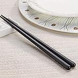 1 par japonés palillos de aleación antideslizante de madera de color Sushi Chop Sticks Set regalo chino Familia Amigos Compañeros de regalos color de la madera