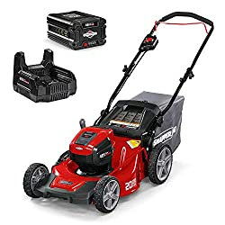 professional Snapper HD 48V MAX Cordless 20inch Electric Lawn Mower ((1) 5.0 Battery and (1) High Speed…