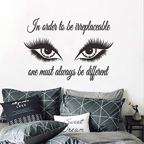 Grandes ojos hermosos PVC pegatinas pared decoración