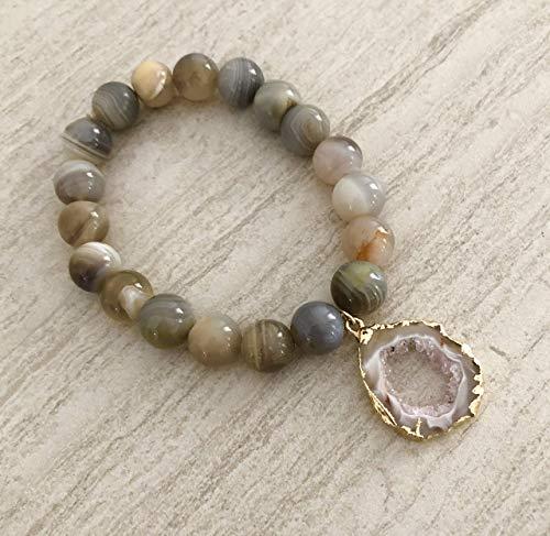 Victoria Silver Crushed Pyrite Gemstone Cuff Bracelet T