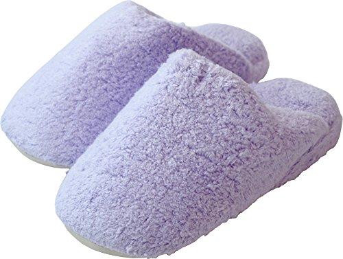内野(UCHINO) ごくふわ スリッパ 洗濯可能 抗菌防臭 ヴァイオレット (M/約23~25cm)