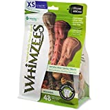 WHIMZEES Natural Grain Free Daily Dental Long Lasting Dog Treats, Brushzees, Extra Small, Bag of 48