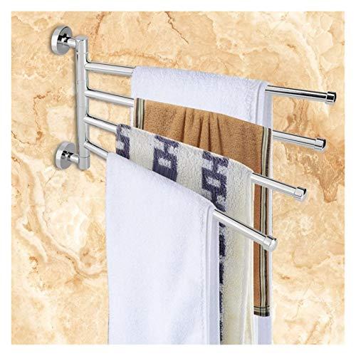 Toalleros De Barra Múltiples brazos colgando toalla con los ganchos giratorio de suspensión de la toalla sostenedor del gancho del organizador del carril sostenedor de la toalla cromo pulido barra de