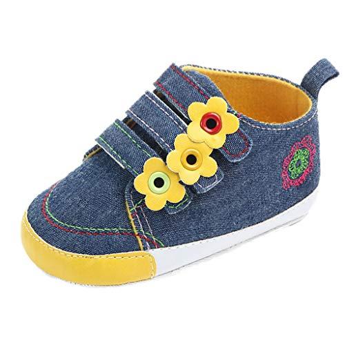 WEXCV Baby Mädchen Canvas-Turnschuhe Outdoor Blumen Sneaker Lauflernschuhe Freizeitschuhe Frühling Kinderschuh Prinzessin Schuhe