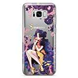 Sailor Moon Luna Human Phone Case For Samsung Galaxy S10 S9 S8 S7 Plus S10e S10 e Note 9 8 5 4 S6 S7 Edge S5 Manga Crystal Senshi Anime Fandom Gift for Fan Girls Women Silicone Clear Cell Cover