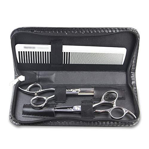 KIBILLL Salon de coiffure outils sac styliste barber ciseaux pochette sac en cuir PU embrayage (Couleur : Noir)