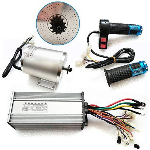 Motor eléctrico CC de alta velocidad, 60 V, 2000 W, sin escobillas, para bicicletas eléctricas, scooters, con controlador, 4300 rpm