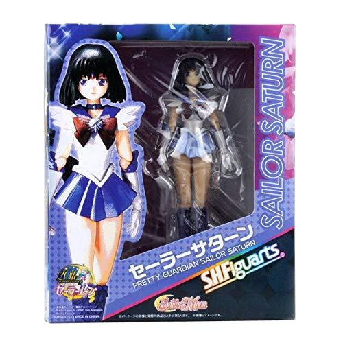 SHFigarts Action Figure Sailor Moon Anime Leuk Karton Verwisselbaar Gezicht Chibiusa Sailor Moon Figuur Meisjes Speelgoed 15-23cm, 2029 met doos