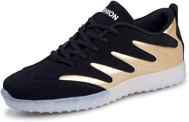 Men's shoes PU Spring Fall Light Soles Light Up shoes Athletic shoes LED shoes Walking shoes Black gold   Black White