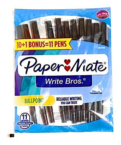 Paper-Mate - Bolígrafo (11 unidades), color negro