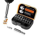 TACKLIFE 18-teiliger Schraubenausdreher Set mit Getrennten Bohrbits und Ausdrehern, Magnetischer Verlängerungsbithalter und Adapter für Beschädigte Schrauben 2-12mm, Härte 62HRC - DSE01