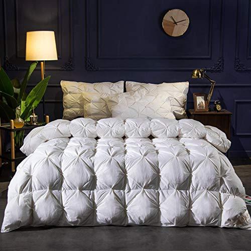 Xinxie2 Manta con plumón de Ganso y Tela de algodón Puro Resistente al Edredón de plumón Primera Calidad Hecho con 95% de Blanco cálido Textil para el hogar Ropa de Cama edredones,150 * 200cm,