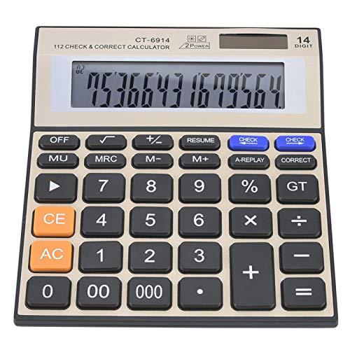 Calcolatrice finanziaria, Display LCD a Grande Schermo a 14 cifre Calcolatrice scientifica Calcolatrice Elettronica, contabilità Portatile per Studenti Office School