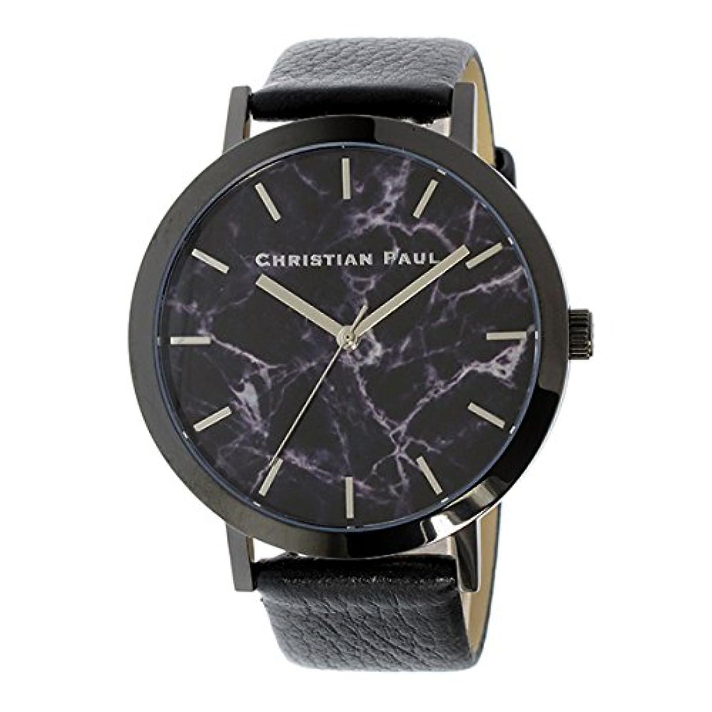 モナリザ専門シンプトンクリスチャンポール CHRISTIAN PAUL マーブル 腕時計 MR-01(MAR-10 MBB4301) ブラック/ブラック ブラック [並行輸入品]