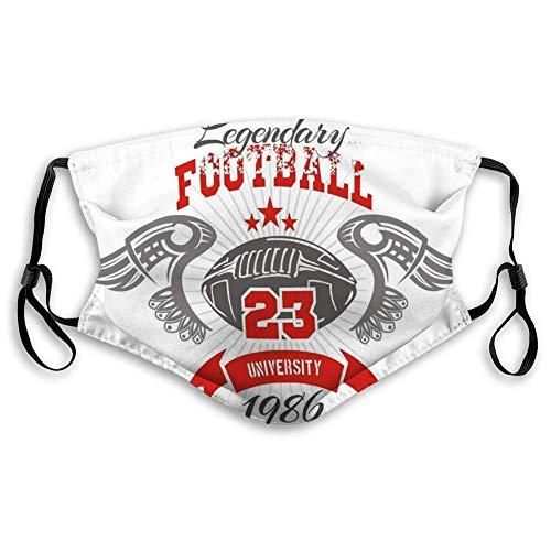 Waschbarer und wiederverwendbarer Gesichtsmund American Football T Vintage Print Boy Sportswear