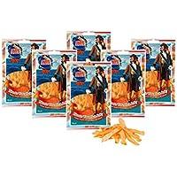 Calamar Jerky - con Chili (6 x 36 g) Snack Natural Secado y Salado I Bajo en Carbohidratos I Alto en Proteínas I Bajo en Grasas I Pescado seco rico en omega 3 I para hombres y mujeres