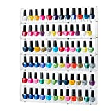 Sagler Rack Acrylic Organizer Holds up to 102 Bottles, Clear Nail Polish Holder Nail Polish Storage