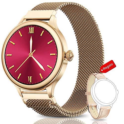 NAIXUES Smartwatch, Reloj Inteligente para Mujer, Reloj Depo