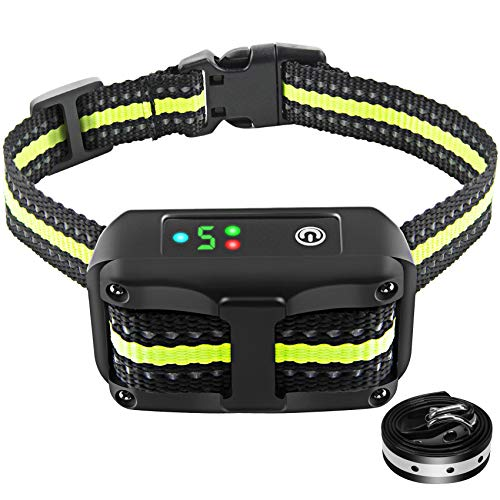 Authen Bark Collar with Beep Vibration and No Harm Shock