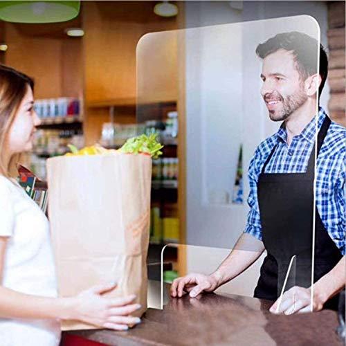 WFLRF Spuckschutz Plexiglas - 40 * 40Cm*4Mm Glasklar Plexiglasscheibe Plexiglas Schutzwand Thekenaufsatz | Hustenschutz Niesschutz Spuckschutz