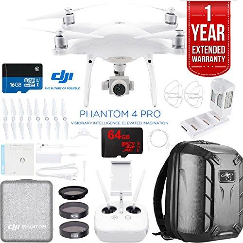 DJI Phantom 4 Pro Quadcopter Drone Camera with Battery, Charging Hub,...