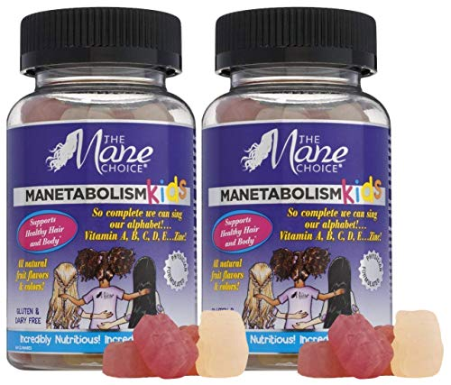 The Mane Choice MANETABOLISM Kids Healthy Hair Growth Vitamins - Complete Nutrition Supplements for Longer, Thicker and Healthier Hair for Kids (60 Gummies - Pack of Two)