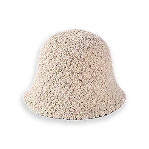 ZSXZX Cappello da Pescatore da Donna, Ecopelliccia Cloche Inverno Caldo Cappello Pescatore per attività all'aperto - Snowboard, Sci, Escursionismo, 56-58 cm(Color:Beige)